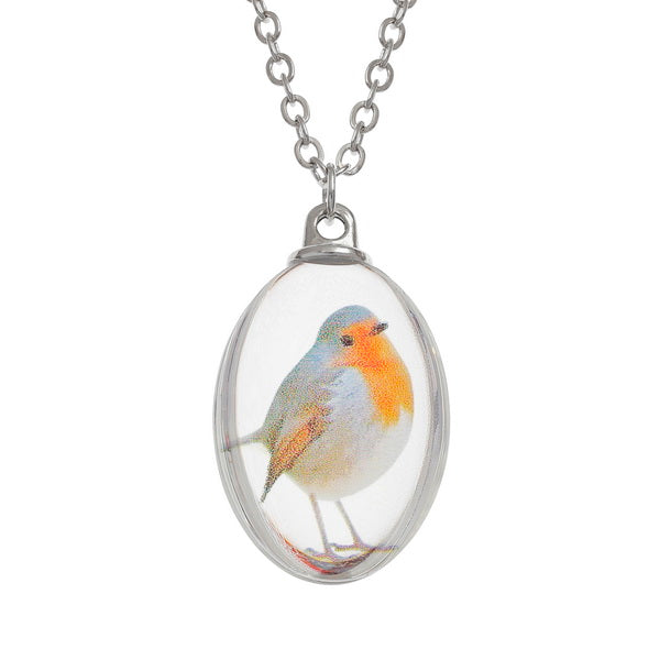 Christmas Robin Pendant Necklace
