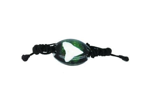 Lucky Real Sharks Tooth Green Bracelet