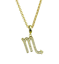 Load image into Gallery viewer, Gold & Silver Plated Scorpio Horoscope Zodiac Czech Crystal Pendant Necklace