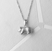 Load image into Gallery viewer, Solid 925 Sterling Silver Guinea Pig Pendant Necklace