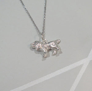 Stunning Sterling 925 Silver Spaniel Pendant Necklace