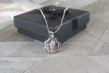 Load image into Gallery viewer, Sterling Silver Saint Christopher Pendant Necklace