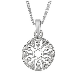 Celtic Scottish Thistle Trinity Knot Pendant Necklace