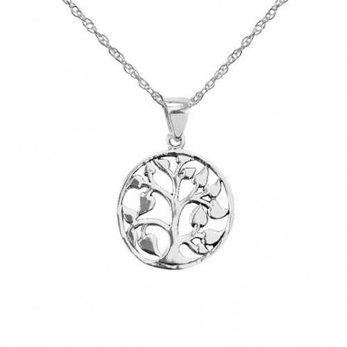 Celtic Tree of Life Solid 925 Sterling Silver Pendant Necklace