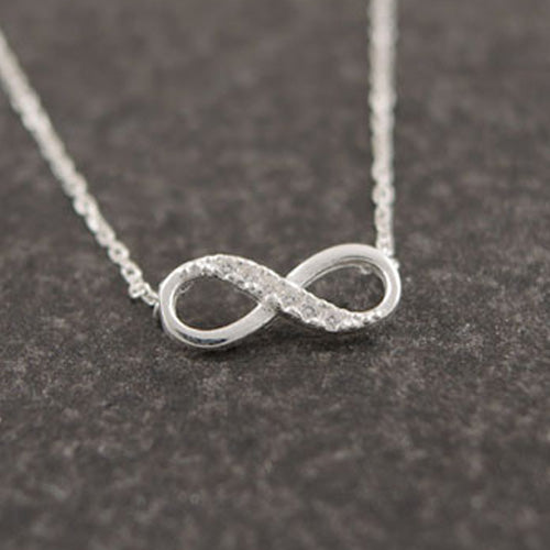 Celtic Infinity Crystal Pendant Necklace