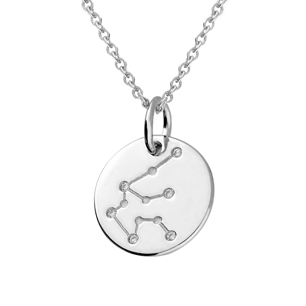 Aquarius Star Constellation Sterling Silver Pendant Necklace