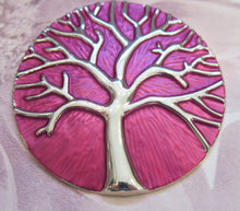 Load image into Gallery viewer, Celtic Tree of Life Silver Plated Magnetic Brooch