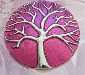 Celtic Tree of Life Silver Plated Magnetic Brooch