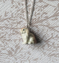 Load image into Gallery viewer, Cute Bunny Rabbit Porcelain Pendant Necklace