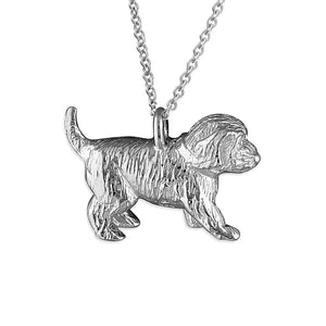 Solid 925 Sterling Silver Cockapoo Pendant Necklace