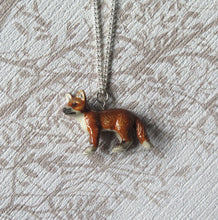 Load image into Gallery viewer, Baby Fox Porcelain Pendant Necklace