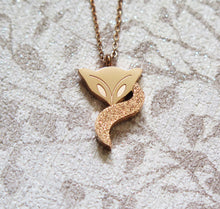 Load image into Gallery viewer, Spiritual Fox Pendant Necklace in Gold, Platinum or Rose Gold Plated