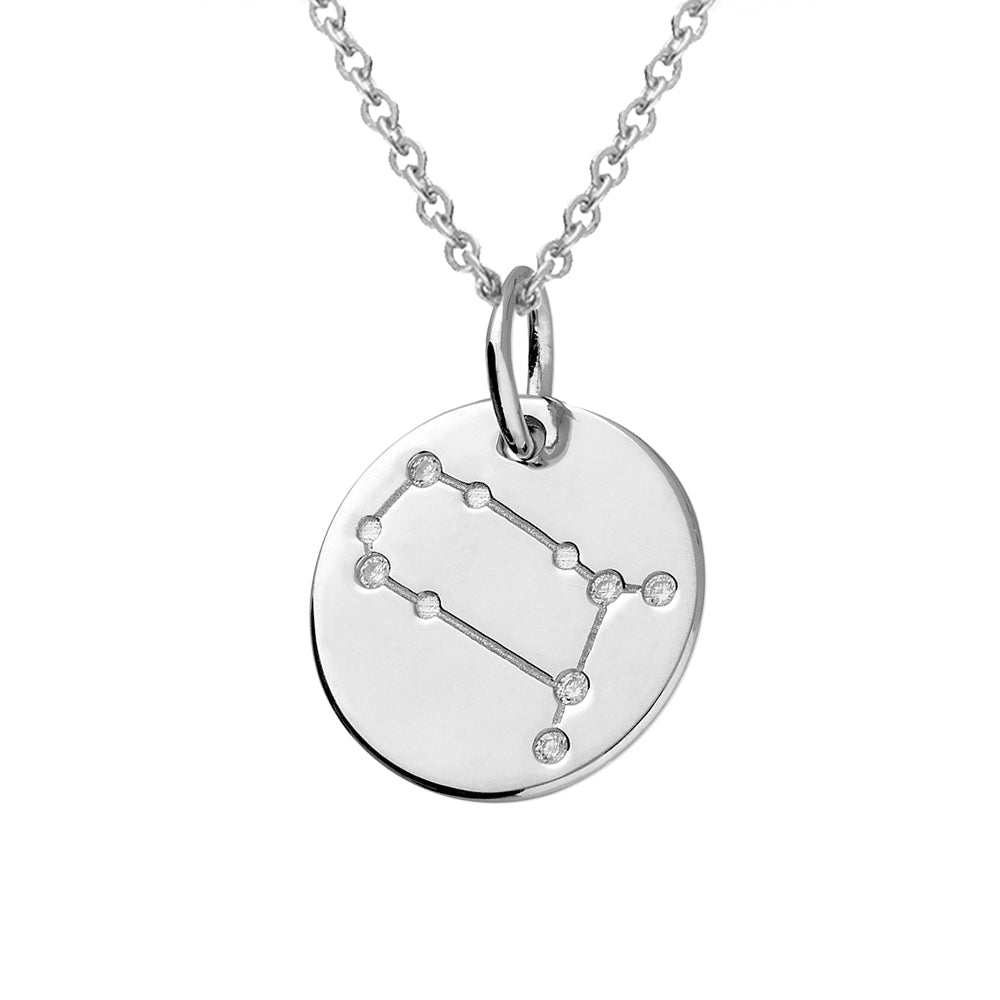 Gemini Star Constellation Sterling Silver Pendant Necklace