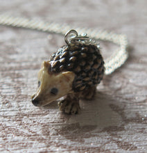 Load image into Gallery viewer, Hedgehog Porcelain Pendant Necklace