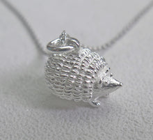 Load image into Gallery viewer, High Quality Solid 925 Sterling Silver Lucky Hedgehog Pendant Necklace