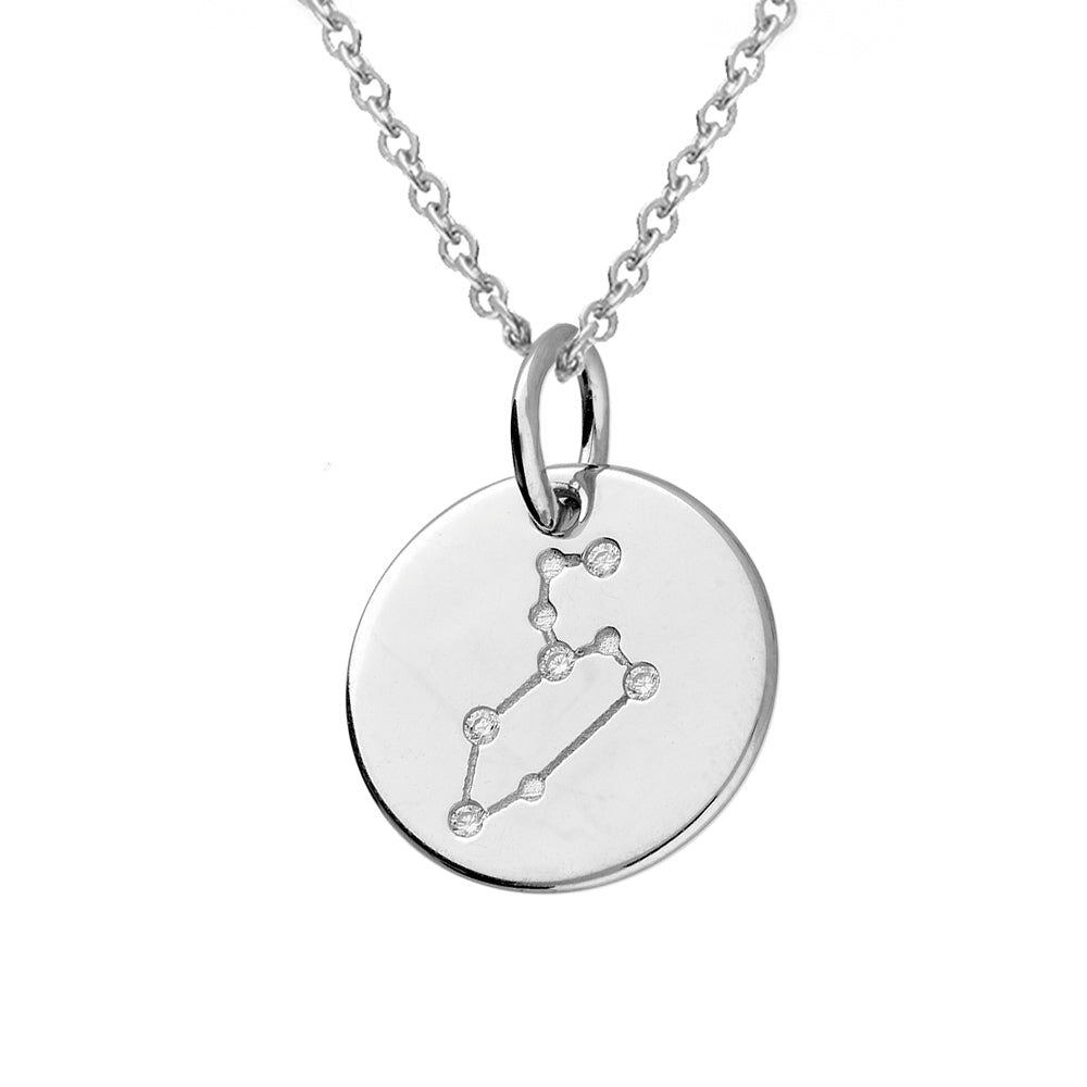 Leo Star Constellation Sterling Silver Pendant Necklace