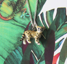 Load image into Gallery viewer, Baby Leopard Porcelain Pendant Necklace