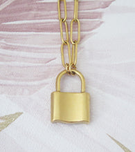 Load image into Gallery viewer, Love Lock Padlock Pendant Necklace