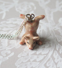 Load image into Gallery viewer, Baby Pig Piglet Porcelain Pendant Necklace