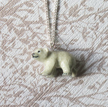 Load image into Gallery viewer, Polar Bear Cub Porcelain Pendant Necklace