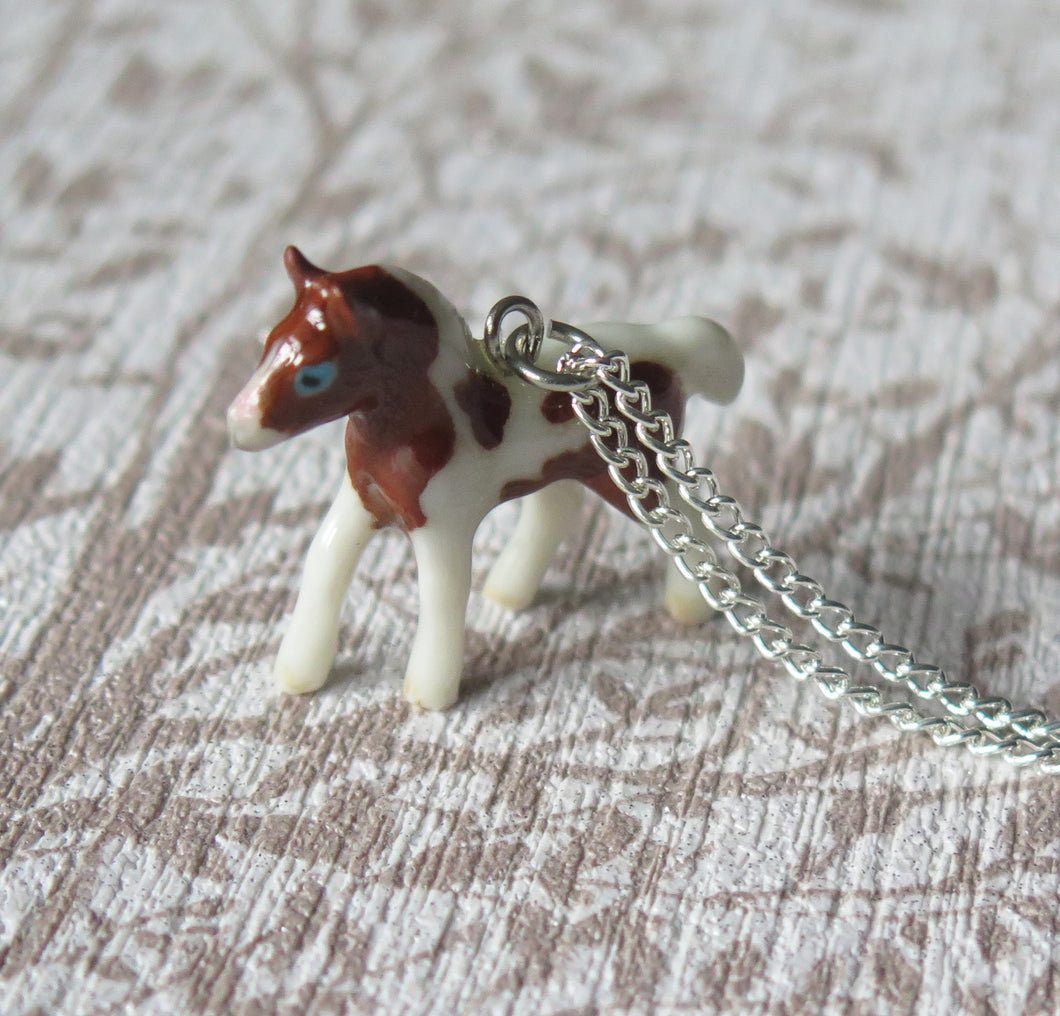 Baby Horse Porcelain Pendant Necklace