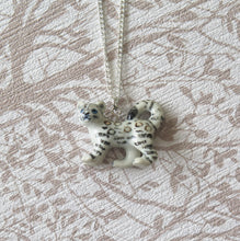 Load image into Gallery viewer, Baby Snow Leopard Porcelain Pendant Necklace