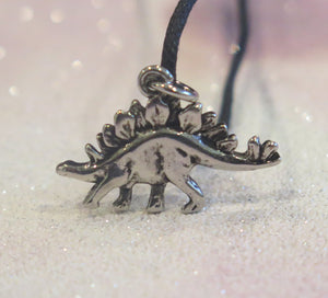 Stegosaurus Dinosaur Adjustable Pendant Necklace
