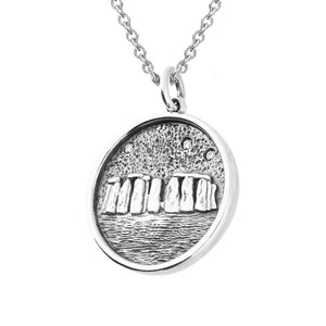 Stonehenge Sterling Silver Pendant Necklace