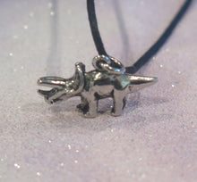 Load image into Gallery viewer, Triceratops Dinosaur Adjustable Pendant Necklace