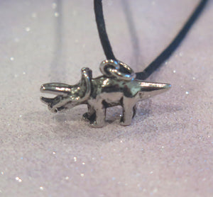 Triceratops Dinosaur Adjustable Pendant Necklace