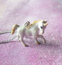 Load image into Gallery viewer, Unicorn Porcelain Pendant Necklace