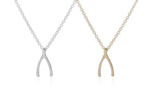 Load image into Gallery viewer, Lucky Wish Bone Gold or Silver Plated Pendant Necklace