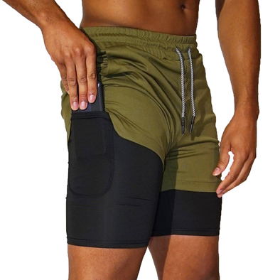 Army Green Workout Shorts