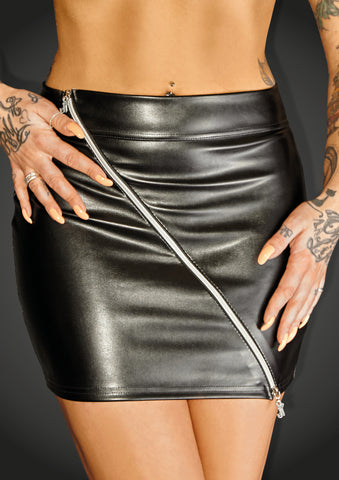 Eco leather miniskirt