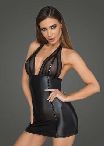 Short dress with PVC appl.