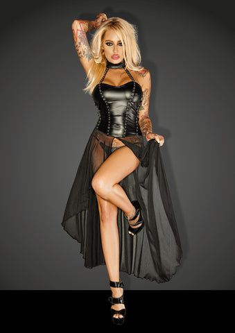 Powerwetlook w tulle dress