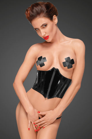 PVC corset with adjustable lacing on the back