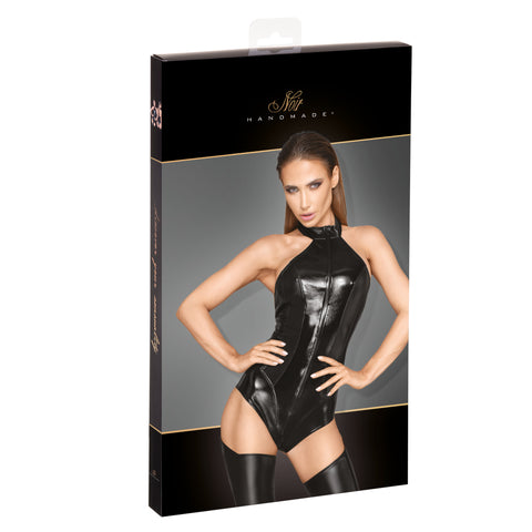 Women's powerwetlook and lacquered eco leather body