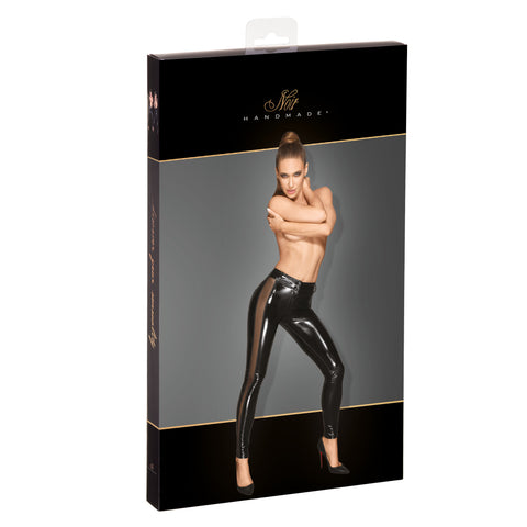 PVC leggins with tulle inserts
