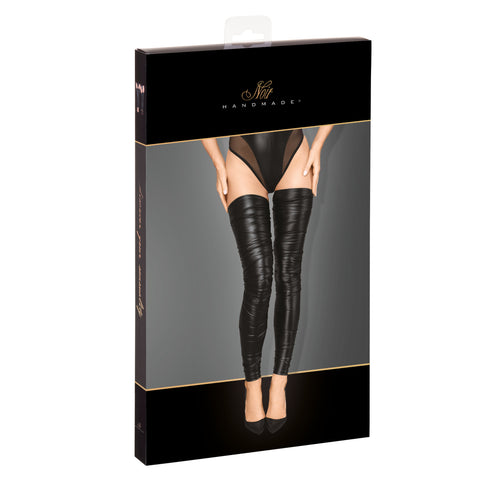 Powerwetlook crinkled high stockings