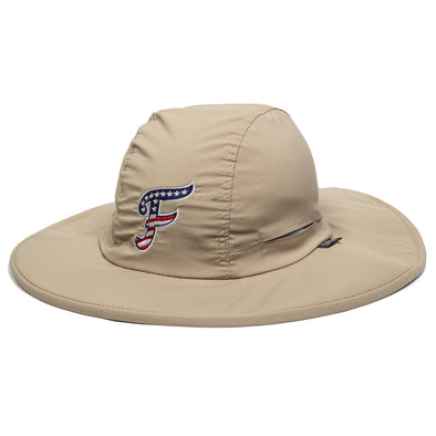 Khaki Stars and Stripes Bucket Hat