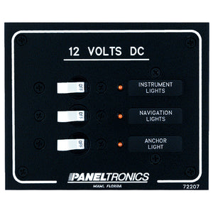 Paneltronics Standard DC 3 Position Breaker Panel w/LEDs