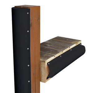 Dock Edge Piling Bumper - One End Capped - 6' - Black