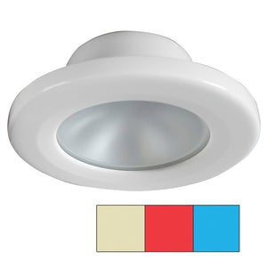 i2Systems Apeiron A3120 Screw Mount Light - Red, Warm White  Blue - White Finish