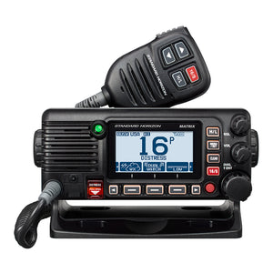Standard Horizon GX2400B Matrix Black VHF w/AIS, Integrated GPS, NMEA 2000 30W Hailer,  Speaker Mic