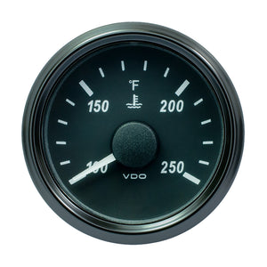 "VDO SingleViu 52mm (2-1/16"") Water Temperature Gauge - 250F - 450-30 Ohm"