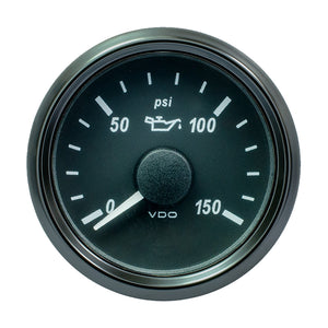 "VDO SingleViu 52mm (2-1/16"") Oil Pressure Gauge - 150 PSI - 0-180 Ohm"
