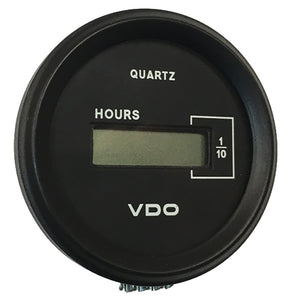 "VDO Cockpit Marine 52mm (2-1/16"") LCD Hourmeter - Black Dial/Chrome Bezel"