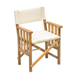 Whitecap Directors Chair II w/Cream Cushion - Teak