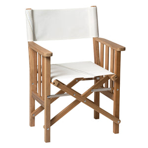 Whitecap Directors Chair II w/Sail Cloth Seating - Teak